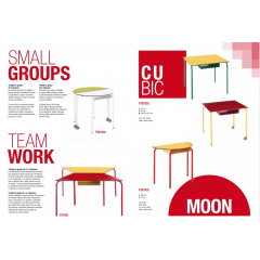 Table pupitre modulaire pour bureau, salle de réunion, école ou crèche Design Forum
