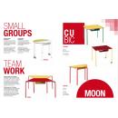 Table pupitre modulaire pour bureau, salle de réunion, école ou crèche Design Logos