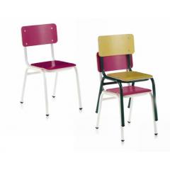 Chaise empilable pour école Design Mini Formica