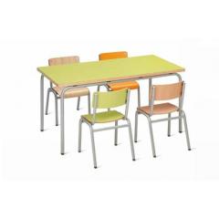 Ensemble Chaises et Tables de cantine ou crèche Design Toupetit