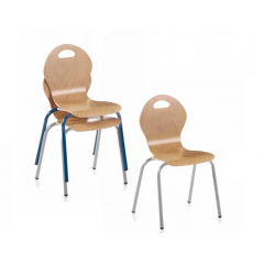 Chaise bois enfants empilable pour collectivité Design Nature