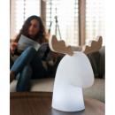 Lampe solaire ou filaire Design Rudy tête d'élan