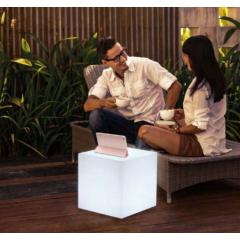Lampe sans fil avec haut parleur Design Kurby Cuby
