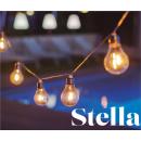 Guirlande 10 ampoules solaires ou secteurpour extérieur Design Stella