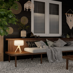 Lampe de table d'extérieur solaire ou filaire Design Mini Chloe