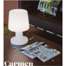 Lampe de table rechargeable ou filaire Design Carmen