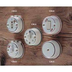 Interrupteurs ou Prise en céramique peints à la main