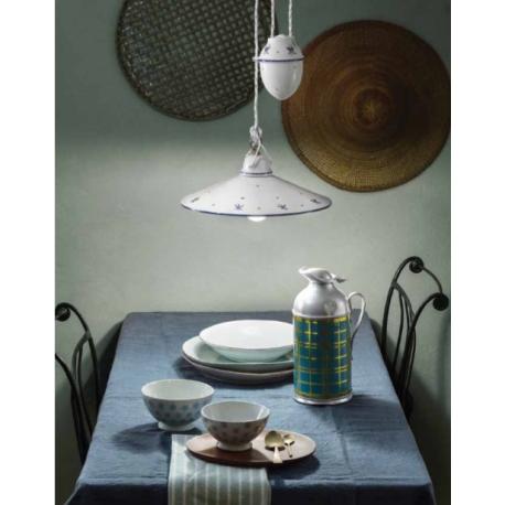 Plafonnier en céramique peinte à la main Design Asti