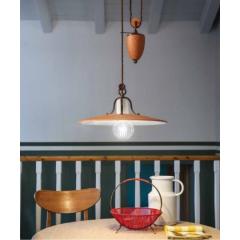 Suspension coulissante en céramique peinte à la main Design Bologna