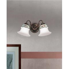 Applique double en céramique peinte à la main Design Ferrara