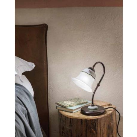 Lampe de chevet en céramique peinte à la main Design Ferrara