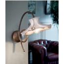 Applique avec abats jour en céramique peints à la main Design Lecco Diese