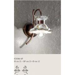 Applique en céramique peinte à la main Design Milano