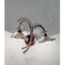 Applique double en céramique peinte à la main Design Milano