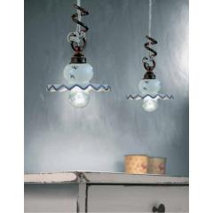 Suspension en céramique peinte à la main Design Roma Diese