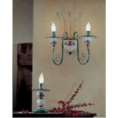 Applique double en céramique peinte à la main Design Sanremo Diese
