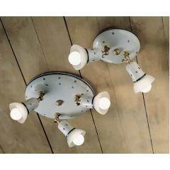 Plafonnier 2 ou 3 spots en céramique peinte à la main Design Savona Diese