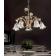 Chandelier 5 ou 8 bras en verre, feuilles métal et céramique peinte à la main Design Sienna