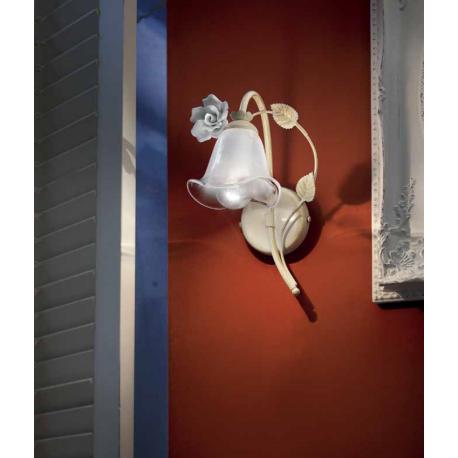 Applique en verre, feuilles métal et céramique peinte à la main Design Sienna