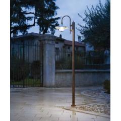 Lampadaire ou candelabre de rue peint à la main Design Campobasso IP43