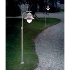 Lampadaire d'extérieur peint à la main Design Imperia IP43