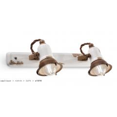 Applique double en céramique Design Loft