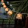 Guirlande 10 ampoules solaires ou secteurpour extérieur en fibres naturelles Design Aurora