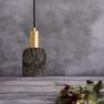 Suspension en céramique Design Osier Black Clay