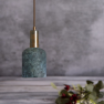 Suspension en céramique Design Osier Blue Earth