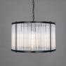 Lustre Chandelier à tiges de verre Design Caledon Grand