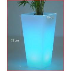 Pot de fleur rectangulaire avec batterie