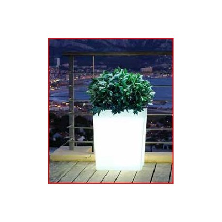 Jardinière lumineuse blanche