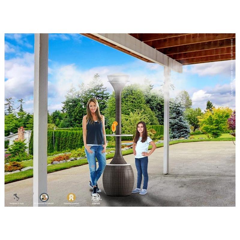 Brumisateur et chauffage lumineux ext rieur design oasi for Brumisateur exterieur
