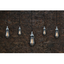 Lustre Chandelier Design Praia Antique Argent