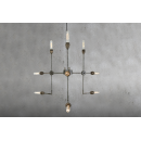 Lustre Chandelier Design Toluca Antique Argent