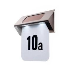 Plaque solaire de numéro de porte