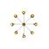 Lustre Chandelier Design Cairo Blanc