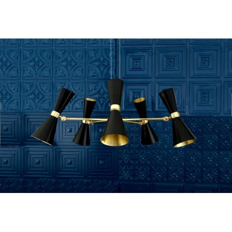 Lustre Chandelier Design Cairo 5 Noir