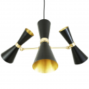 Lustre Chandelier Design Cairo 3 Noir