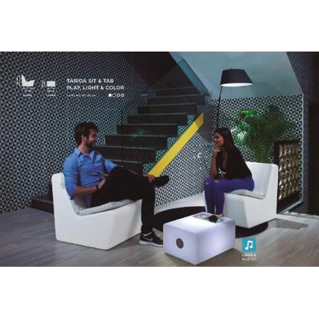 Table lumineuse et musicale solaire Design Tarida
