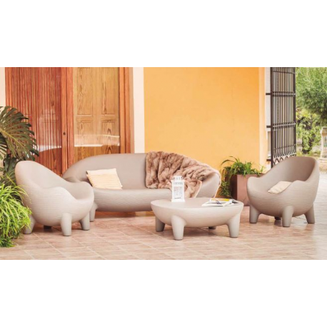 Sofa ou canapé de jardin couleur ou lumineux à énergie solaire Design New Island