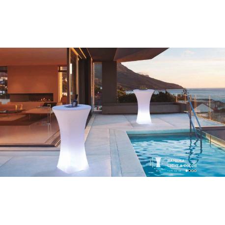 Table présentoir couleur ou lumineux et solaire Design Bahamas