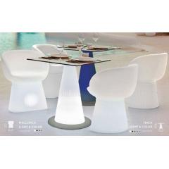 Table lumineuse solaire design Itaca