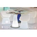 Table mange debout lumineux solaire design Itaca