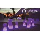 Table mange debout lumineux et solaire design Capri 110