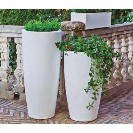 Pot couleur, lumineuse et solaire Design Bambu