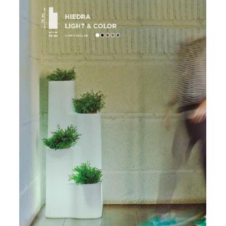 Jardinière couleur ou lumineuse Design Hiedra