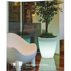 Pot couleur ou lumineux solaire Design Violeta