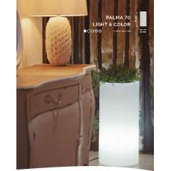 Pot colonne lumineuse ou solaire Design Palma