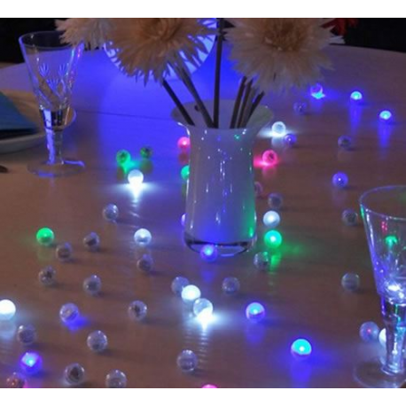 Perles lumineuses d coration de table et piscine for Decoration lumineuse
